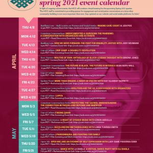 UCSB MCC Spring 2021 Event At A Glance Calendar