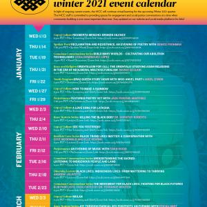 At A Glance! UCSB MCC Winter 2021 Event Calendar